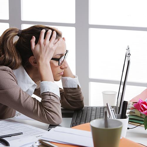 Stress versus oogspier problemen